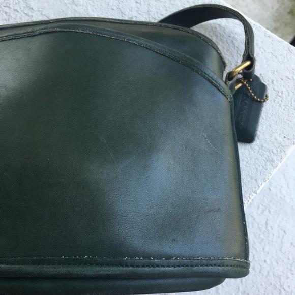 45fe093e56d8 Coach Handbags - Vintage leather Coach bag dark green